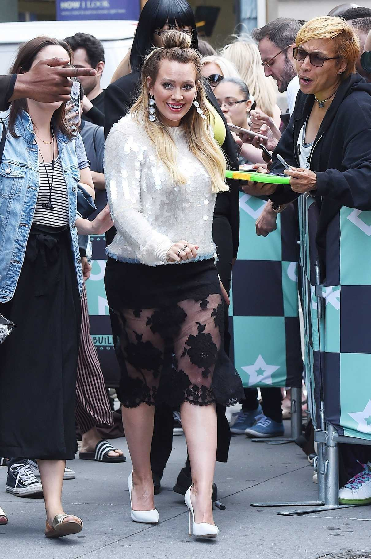 Hilary Duff Arrives at the AOL Build Series in New York City 06/05/2018-1