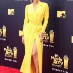 Jasmine Sanders Attends the 2018 MTV Movie and TV Awards in Santa Monica 06/16/2018-3