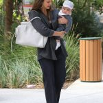 Jessica Alba Takes Adorable Baby Boy Hayes to The Honest Office in Los Angeles 06/19/2018-3
