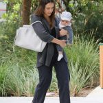 Jessica Alba Takes Adorable Baby Boy Hayes to The Honest Office in Los Angeles 06/19/2018-4