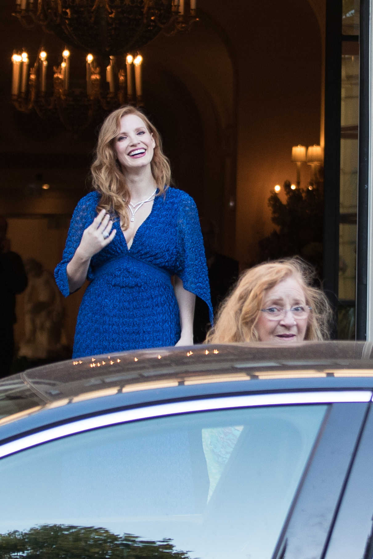 Jessica Chastain Leaves the Shangri-La Hotel in Paris 06/18/2018-1