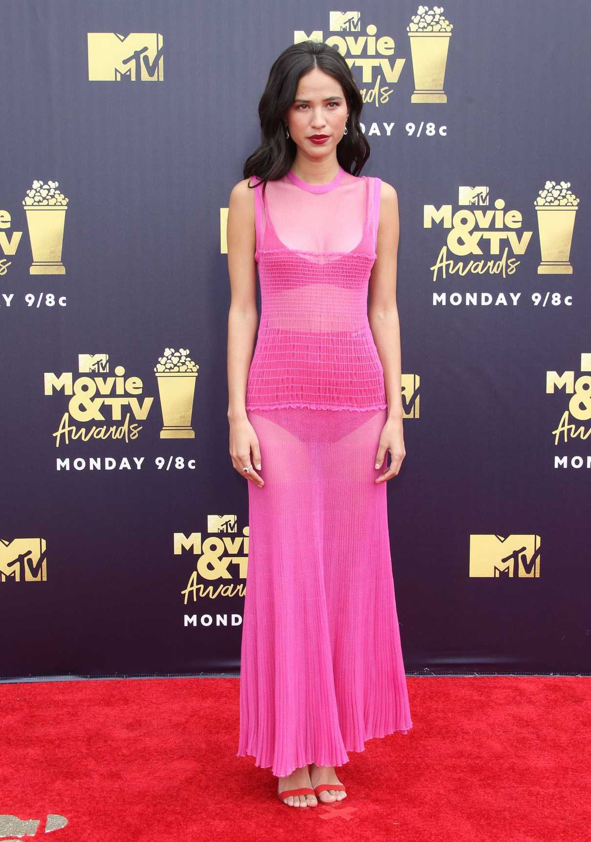 Kelsey Chow Attends the 2018 MTV Movie and TV Awards in Santa Monica 06/16/2018-1
