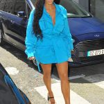 Kim Kardashian Arrives at Louis Vuitton Fashion Show in Paris 06/21/2018-4