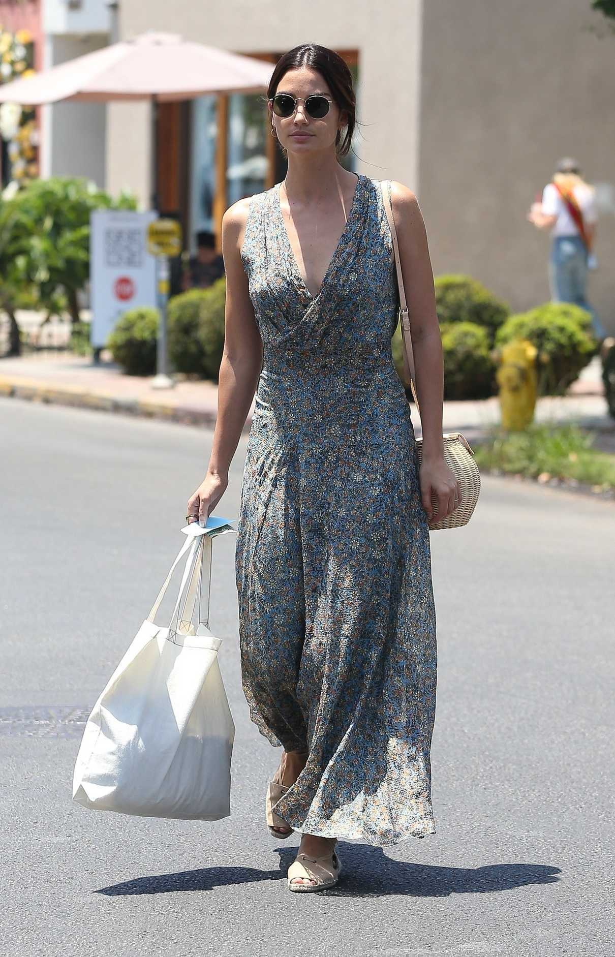 Lily Aldridge Does Some Shopping at Isabel Marant in West Hollywood 06/20/2018-2