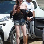 Lindsay Lohan Arrives at Lohan Beach Club in Mykonos 06/10/2018-2