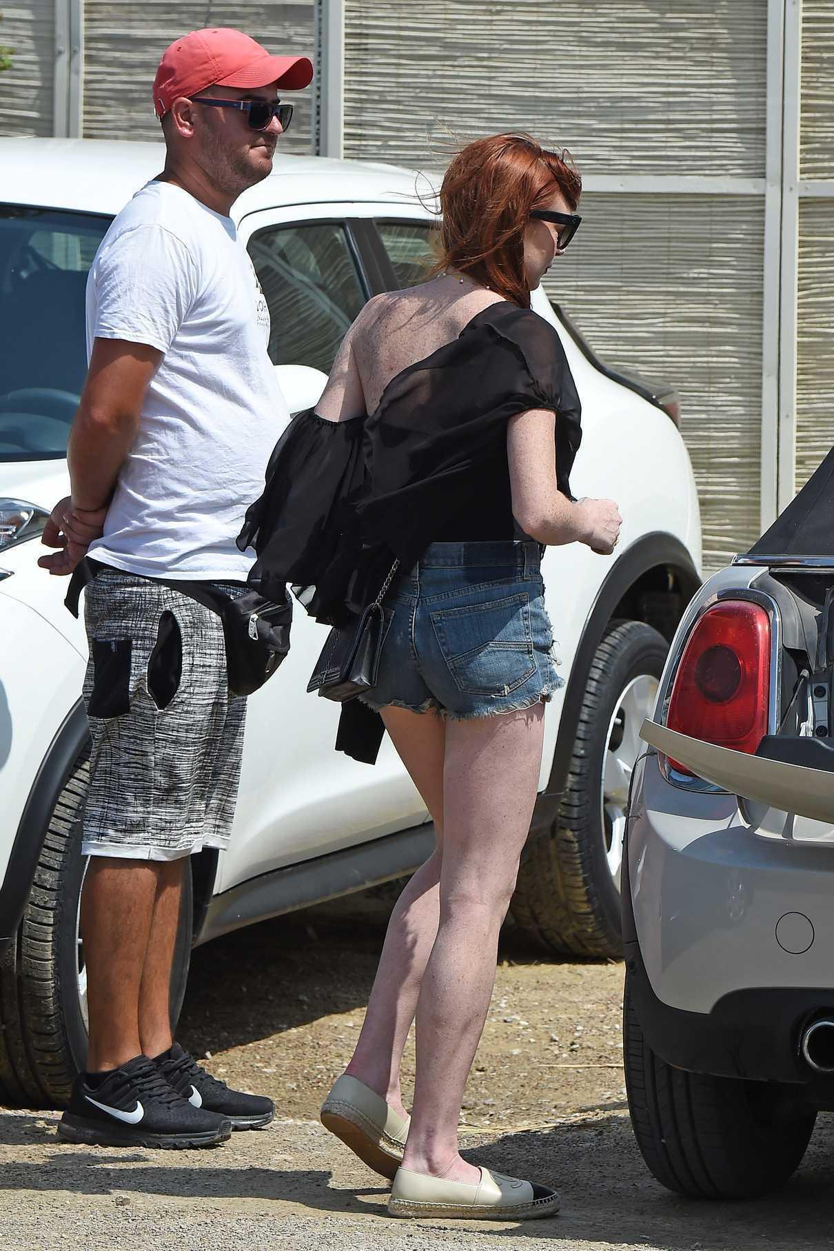 Lindsay Lohan Arrives at Lohan Beach Club in Mykonos 06/10/2018-4