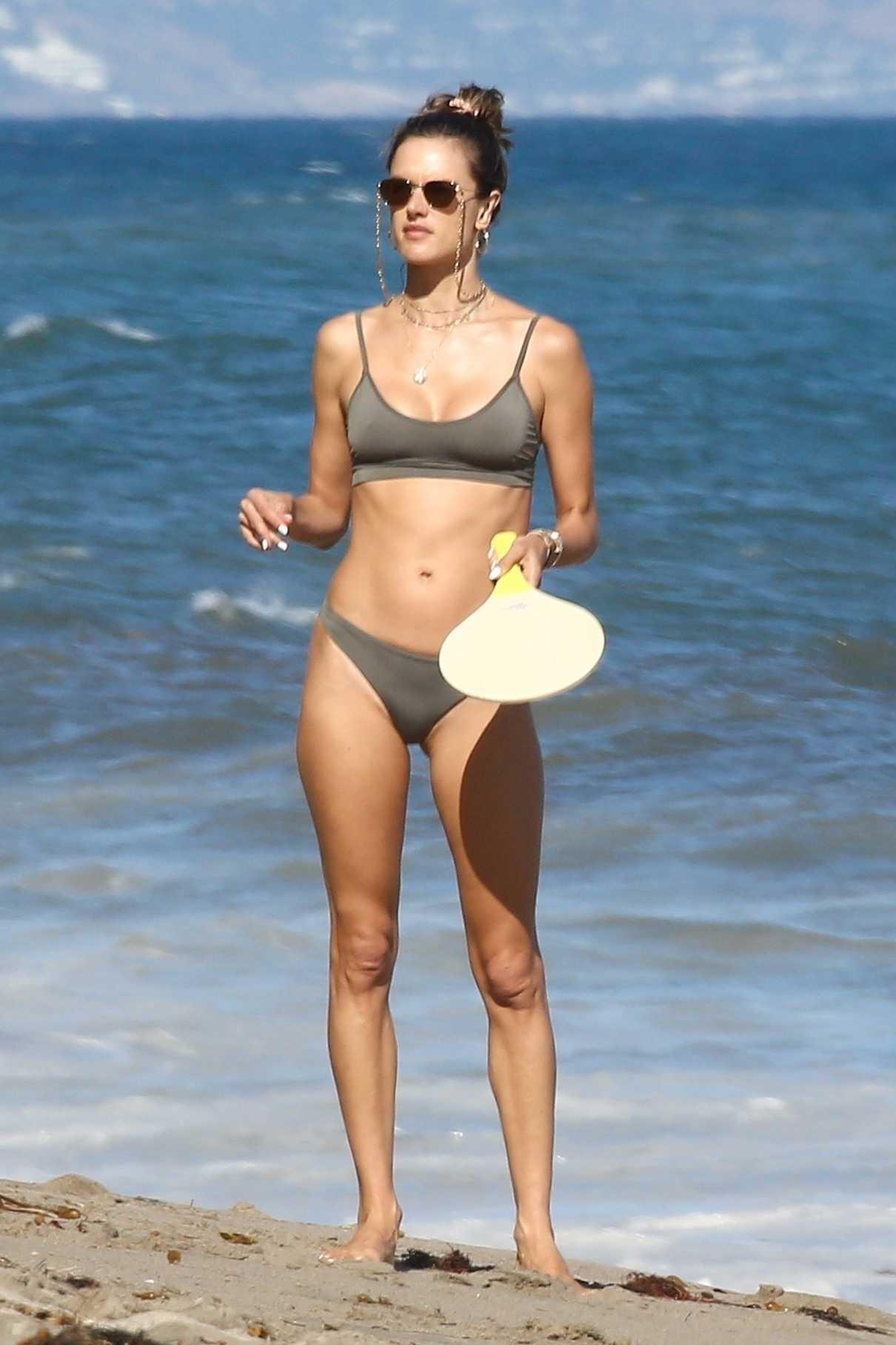 Alessandra Ambrosio in a Sage Bikini