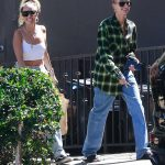 Hailey Baldwin Wears a Green Cropped Shirt Out in West Hollywood 07/20/2018-4