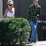 Hailey Baldwin Wears a Green Cropped Shirt Out in West Hollywood 07/20/2018-5