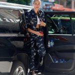 Hailey Baldwin Wears a Versace Outfit in Brooklyn, New York 07/05/2018-2