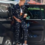 Hailey Baldwin Wears a Versace Outfit in Brooklyn, New York 07/05/2018-3