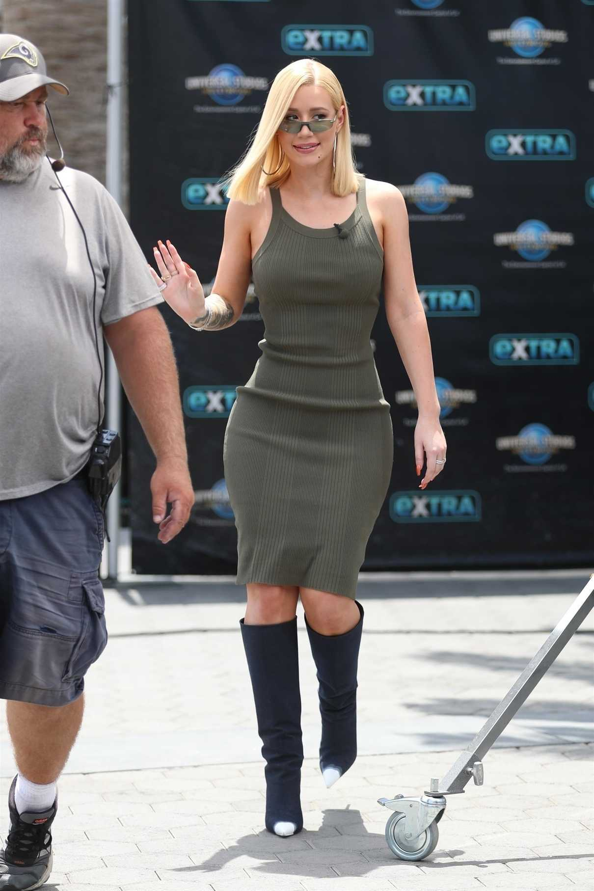Iggy Azalea Arrives on the Set of Extra TV Show in Los Angeles 07/10/2018-1