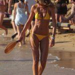 Izabel Goulart in a Yellow Bikini on the Beach in Mykonos Island 07/13/2018-2