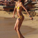 Izabel Goulart in a Yellow Bikini on the Beach in Mykonos Island 07/13/2018-3