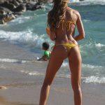Izabel Goulart in a Yellow Bikini on the Beach in Mykonos Island 07/13/2018-5