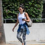 Jenna Dewan Wears a White Badass Feminist Tank Top as She Leaves Her Gym in West Hollywood 07/16/2018-4