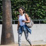 Jenna Dewan Wears a White Badass Feminist Tank Top as She Leaves Her Gym in West Hollywood 07/16/2018-5