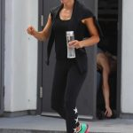 Jennifer Garner Wears a Black Workout Clothes as She Leaves the Body By Simone Gym in West Hollywood 07/21/2018-2