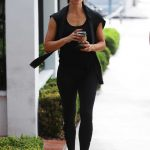 Jennifer Garner Wears a Black Workout Clothes as She Leaves the Body By Simone Gym in West Hollywood 07/21/2018-3