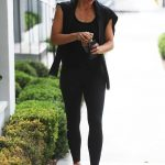 Jennifer Garner Wears a Black Workout Clothes as She Leaves the Body By Simone Gym in West Hollywood 07/21/2018-4