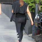 Jennifer Garner Wears a Black Workout Clothes as She Leaves the Body By Simone Gym in West Hollywood 07/21/2018-5