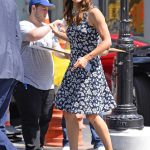 Jennifer Garner Wears a Floral Dress Out in New York City 07/16/2018-5