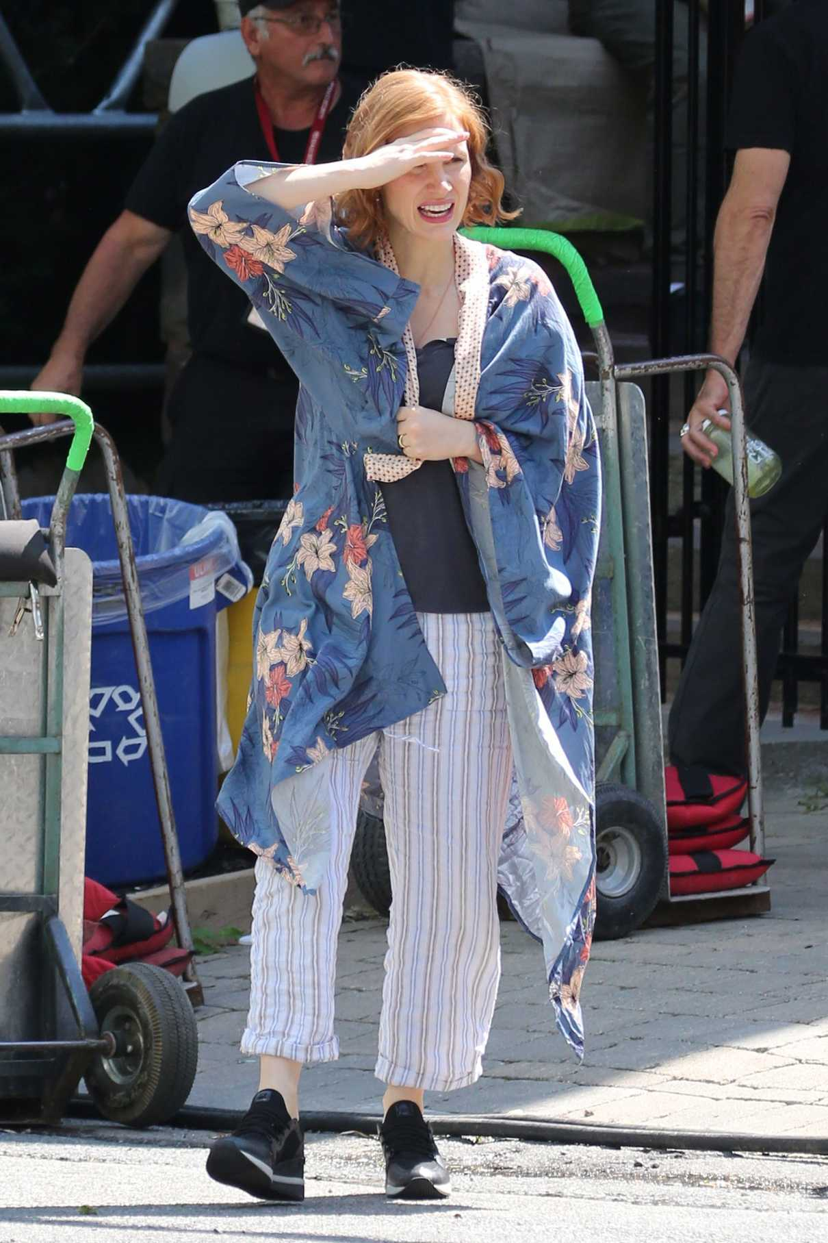 Jessica Chastain on the Set of IT: Chapter Two in Toronto 07/10/2018-1