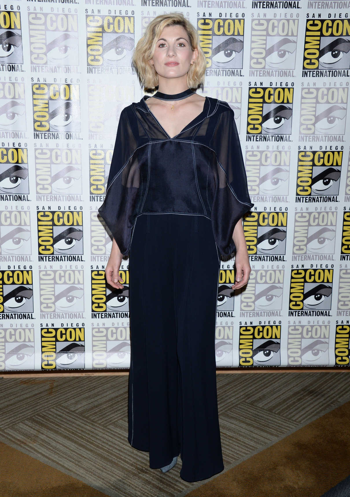 Jodie Whittaker at the Doctor Who Photocall During the Comic-Con in San Diego 07/19/2018-1