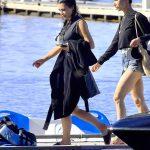 Kim Kardashian Arrives on a Boat on a Lake in Idaho 07/06/2018-4
