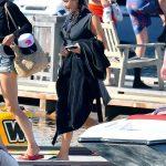 Kim Kardashian Arrives on a Boat on a Lake in Idaho 07/06/2018-5