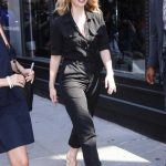Lily James Wears a Black Overalls Out in New York 07/19/2018-3