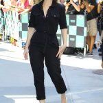 Lily James Wears a Black Overalls Out in New York 07/19/2018-4
