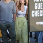 Minka Kelly Wears a Salad Skirt and a White Tank Top During a Fun Night at the Harry Styles Concert in Inglewood 07/14/2018-2