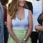 Minka Kelly Wears a Salad Skirt and a White Tank Top During a Fun Night at the Harry Styles Concert in Inglewood 07/14/2018-4