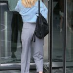 Mollie King Arrives at BBC Studios in London 07/12/2018-4