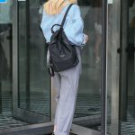 Mollie King Arrives at BBC Studios in London 07/12/2018-5