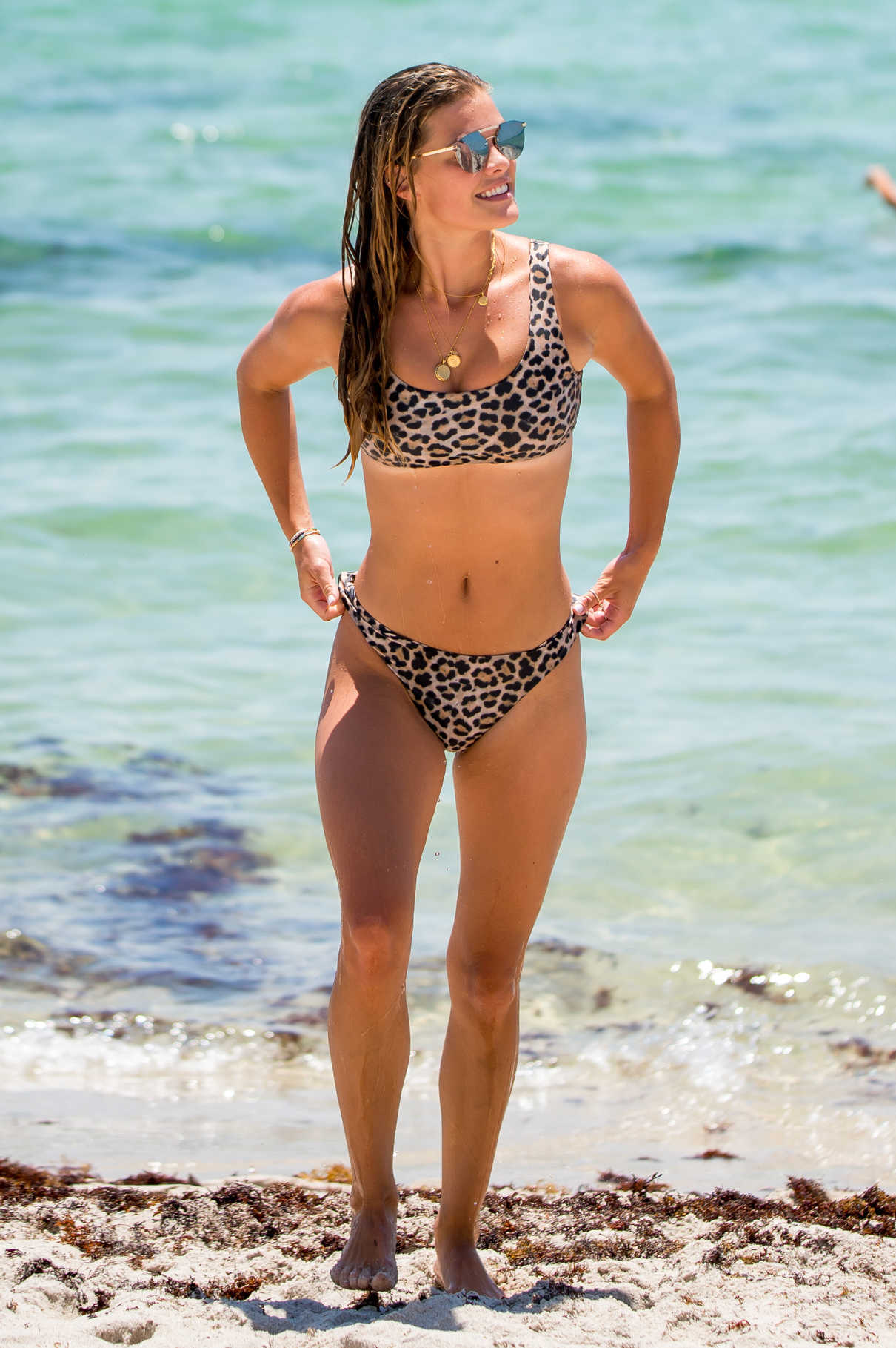 Nina Agdal in Bikini on the Beach in Miami 07/13/2018-1