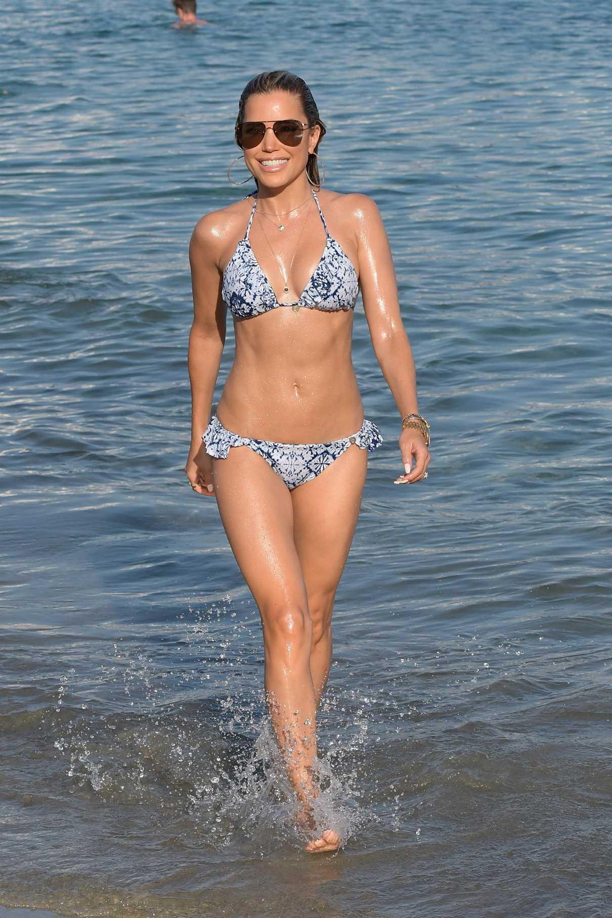 Sylvie Meis in Bikini on the Beach in Mykonos 07/06/2018-1