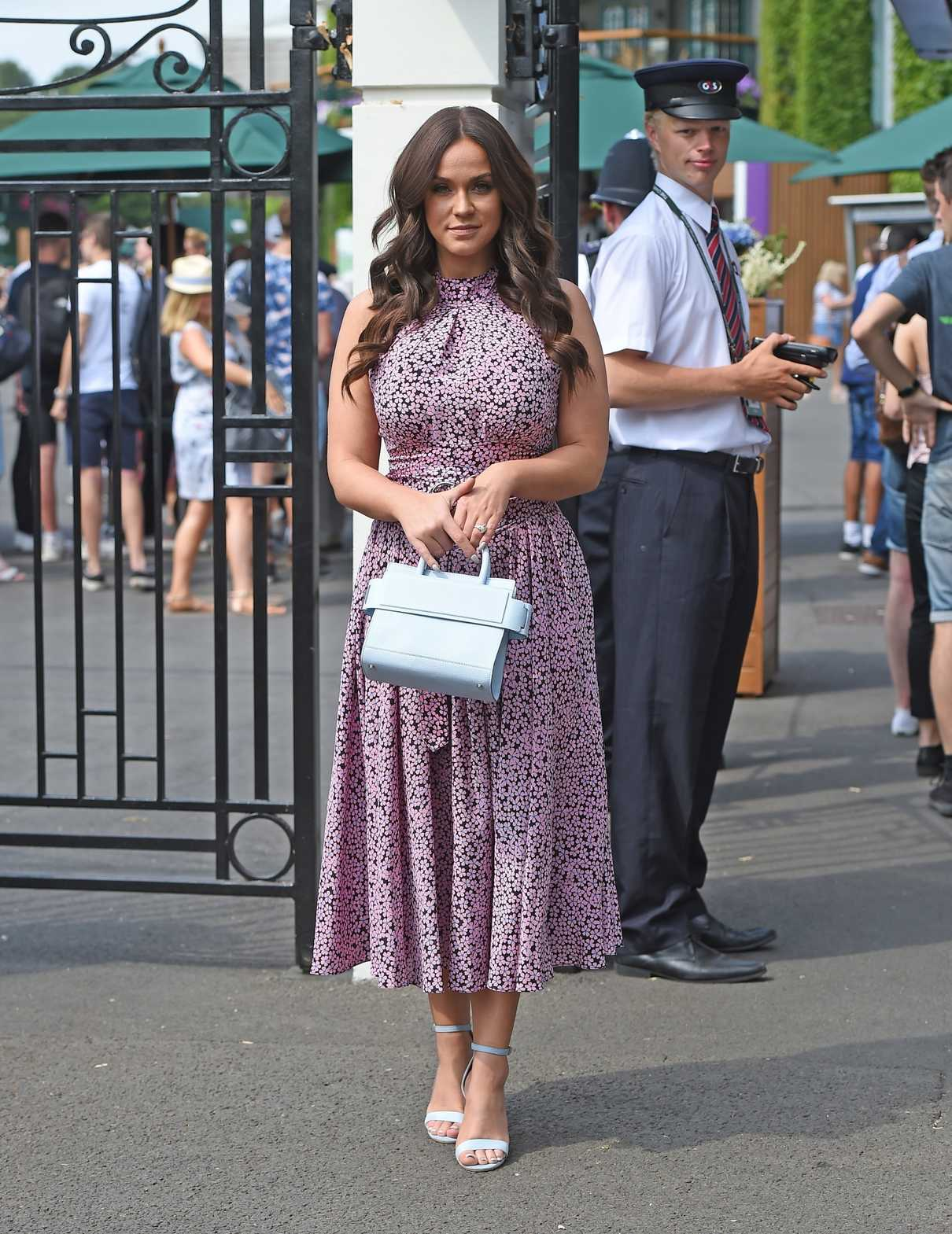 Vicky Pattison Arrives with Her Fiance John Noble at Wimbledon Tennis Tournament in London 07/09/2018-1