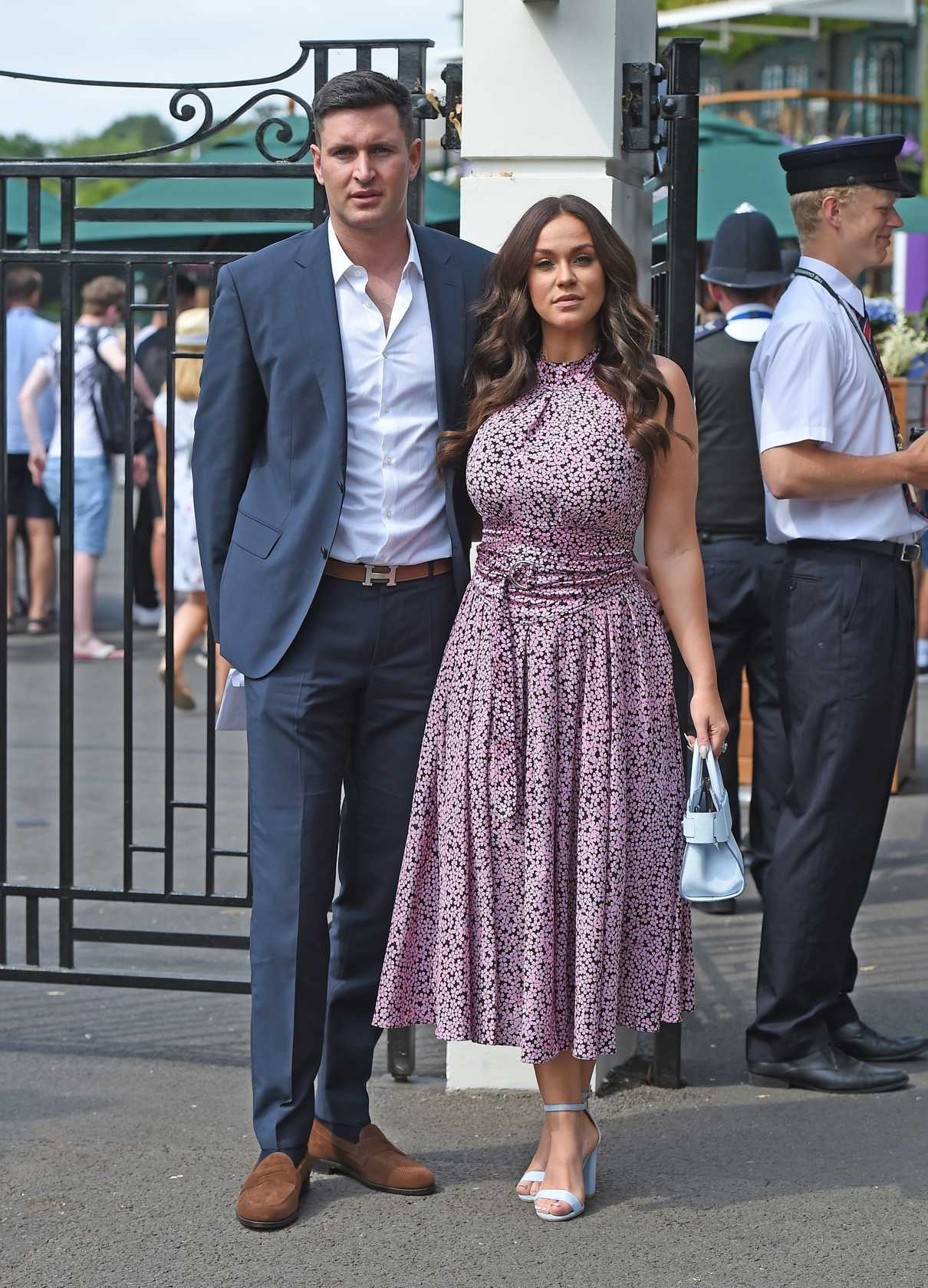 Vicky Pattison Arrives with Her Fiance John Noble at Wimbledon Tennis Tournament in London 07/09/2018-4