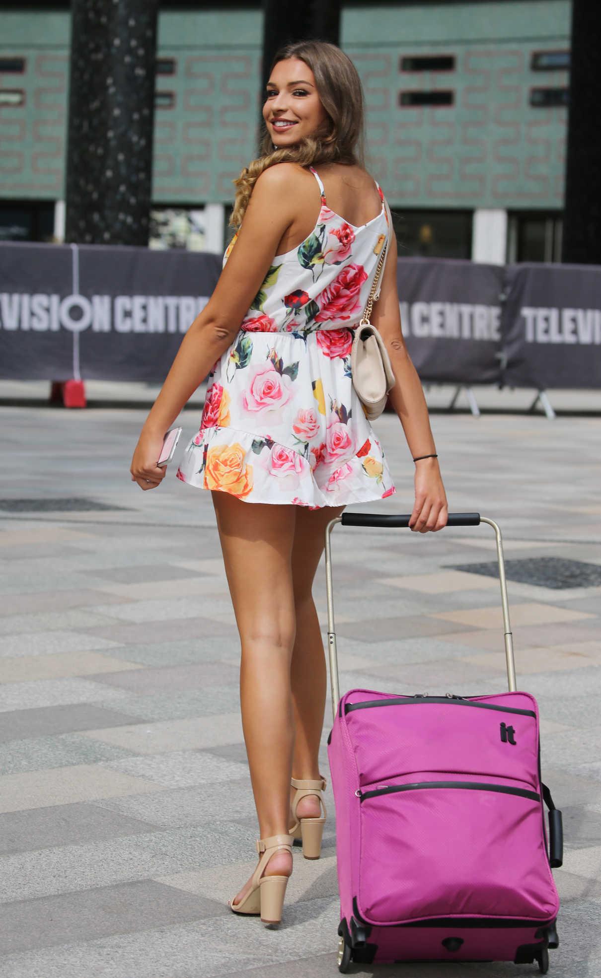 Zara McDermott Leaves ITV Studios in London 07/09/2018-4