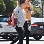 Hilary Duff in a Striped Blouse