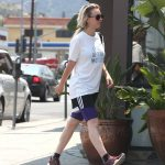 Kaley Cuoco in a White T-Shirt