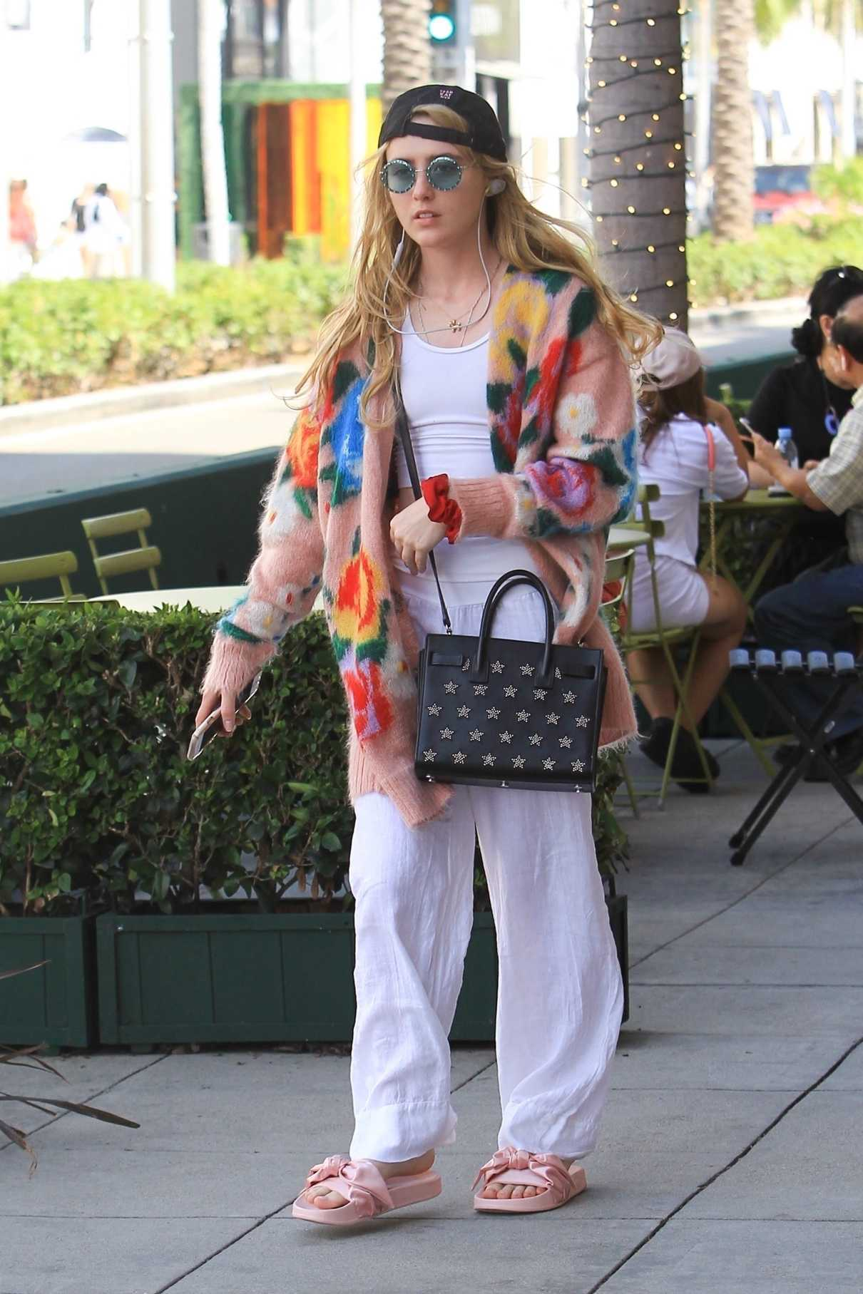 Kathryn Newton in a White Pants