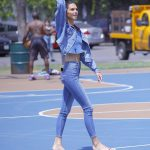Kendall Jenner in all Denim