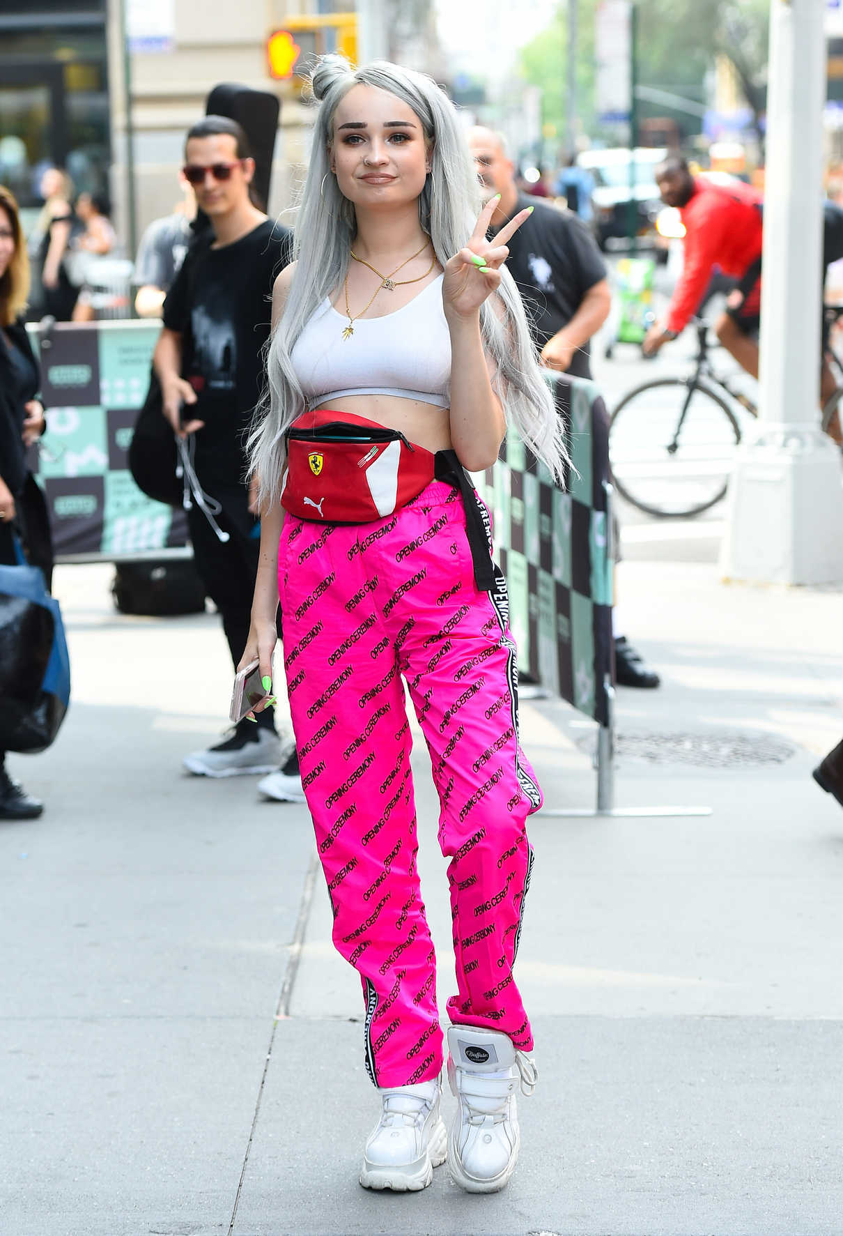 Kim Petras in a Pink Opening Ceremony Track Pants