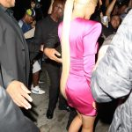 Kylie Jenner in a Short Pink Dress