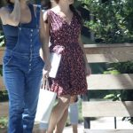 Lea Michele in a Floral Summer Dress