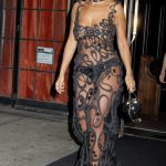 Rita Ora in a Transparent Dress