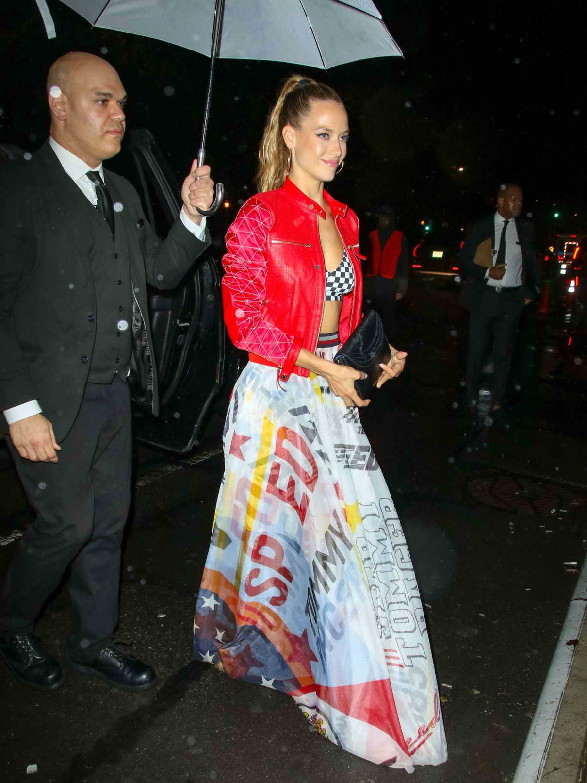 eb9ed4f6d40 Hannah Ferguson Arrives at Tommy Hilfiger and Lewis Hamilton Launch Party  During New York Fashion Week in NYC 09 10 2018-1